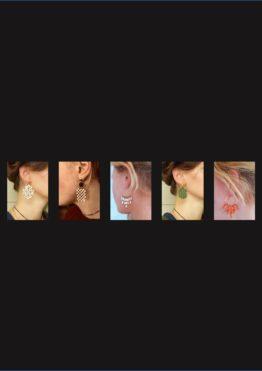Boucles d'oreilles percees